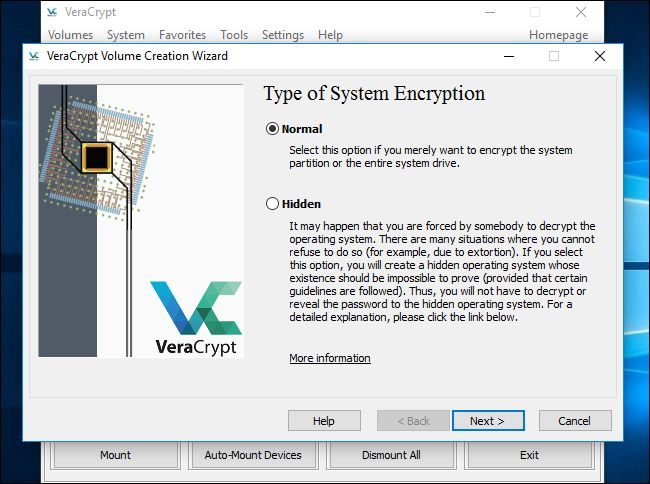 Type of System Encryption